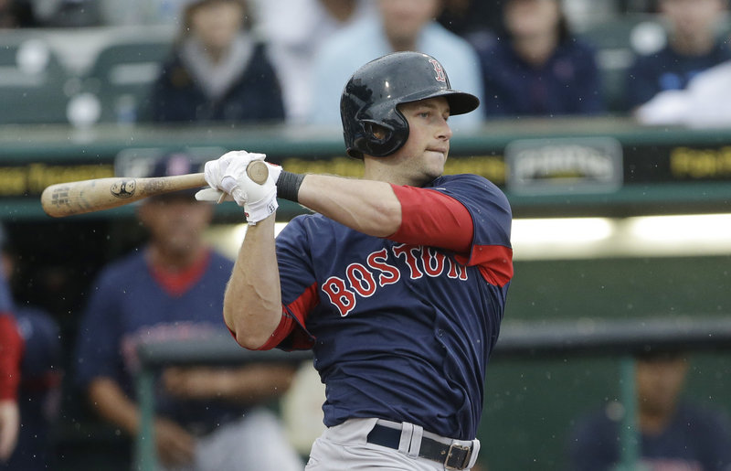 Daniel Nava, who played for the Portland Sea Dogs in 2009, is having a good spring with the Red Sox, and if he makes the team could bat second against right-handers.