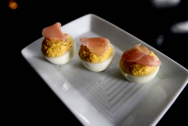 Skye Bonney's carrot and pickled ginger deviled egg.