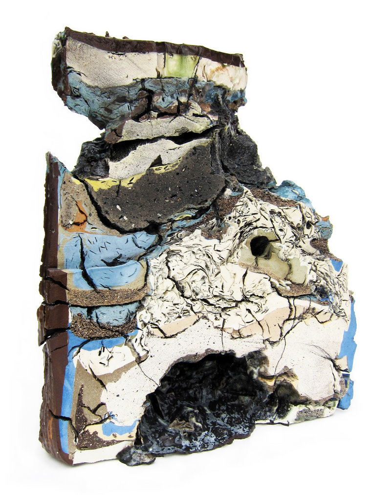 """Landfill No. 9: Northeast Cross Section,"" various clays, glazes and stains; 50 percent recycled."