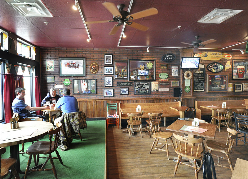 Byrnes' Irish Pub is a few steps away from the new train stop in Brunswick. It has a long bar with an impressive 25 taps, and the walls hold framed pictures, posters and beer logos.