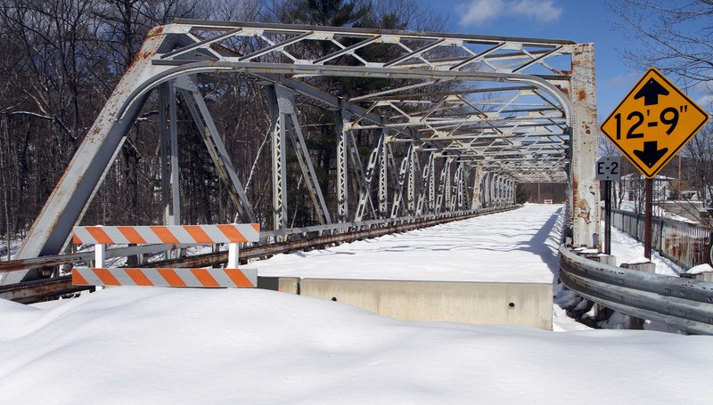 This bridge over the Contoocook River in Henniker, N.H., is among those closed because of disrepair.