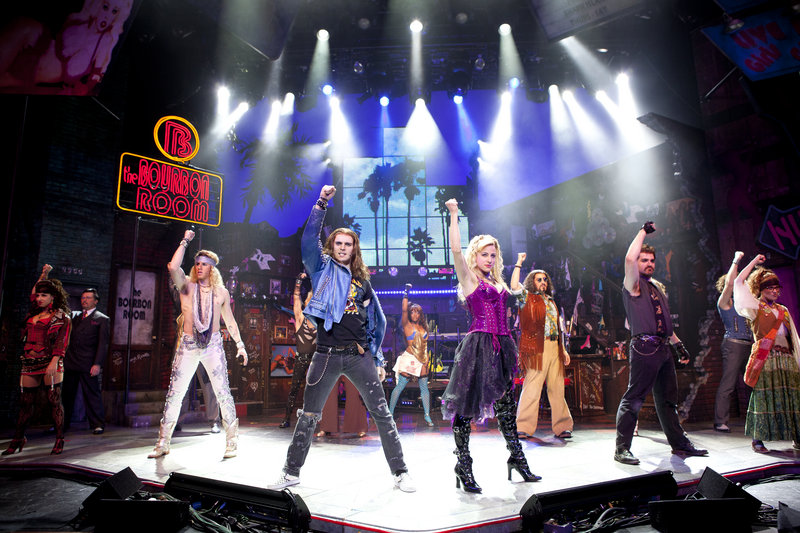 "The ""Rock of Ages"" cast. The musical is at Merrill Auditorium in Portland on Saturday."