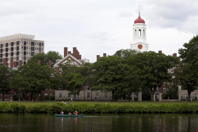 Harvard, with the Charles River in the foreground, is putting more emphasis on entrepreneurship. Its Innovation Laboratory hosts more than 100 fledgling companies.