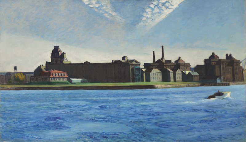 "This image provided by Christie's auction house shows the painting ""Blackwell's Island"" by Edward Hopper. The 1928 work is expected to sell for up to $20 million."