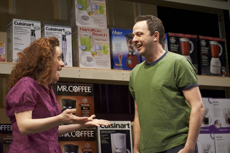For the characters played by Abigail Killeen and David Mason, it's love at first sight in a big box store.