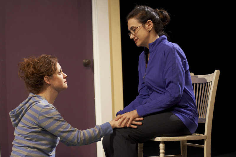 "Abigail Killeen and Patricia Buckley in one of the 10 short plays of ""Love/Sick."""