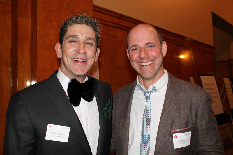 Guest author and fifth U.S. inaugural poet Richard Blanco with Mike Paterniti, a co-founder of the Telling Room.