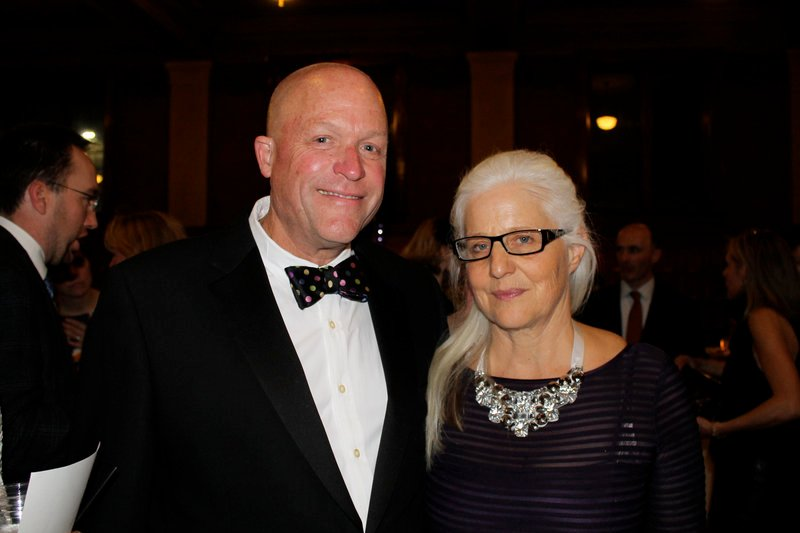 Cyrus and Patty Hagge, recipients of the Telling Room's Red Buoy Award.