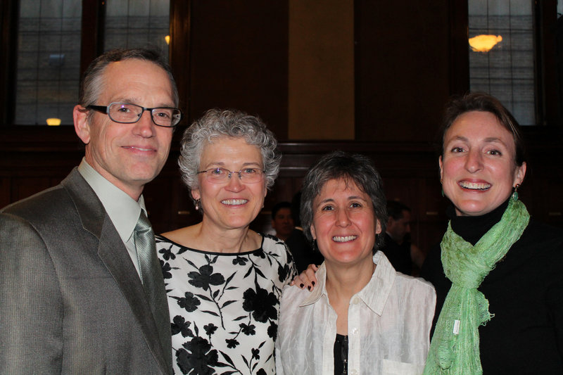 George Christie of South Portland with Jan Kearce, executive director of the Institute for Civic Leadership, Helen Brena, CEO of YMCA of Southern Maine, and Anna Marie Klein-Christie, executive director of Rippleffect.