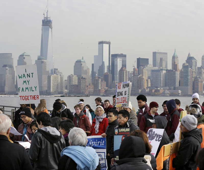 Immigrant rights advocates, like these gathered in Liberty State Park, Jersey City, N.J., in February, have long called for the reforms now being debated in the U.S. Senate.