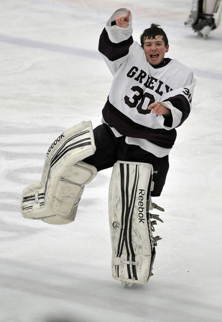 Greely goalie Kyle Kramlich came away with a shutout and the Rangers came away with the Class B state championship, beating Messalonskee.