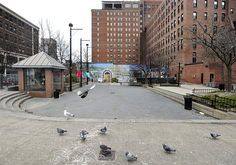 Congress Square Plaza currently is used as a public space.