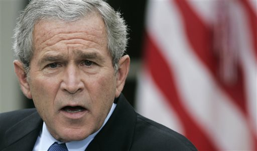 In this October 2006 photo, President George W. Bush speaks during a news conference at the White House. When he took office in January 2001, half of the country viewed him in a positive light while 30 percent had negative views in an NBC survey. By the time he left Washington eight years later, the network's poll showed that 31 percent had favorable opinions of him and 58 percent had unfavorable.