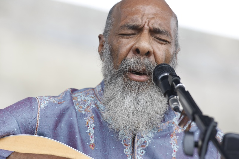 Richie Havens performs at the Newport Folk Festival at Fort Adams State Park in Newport, R.I. in August 2008.