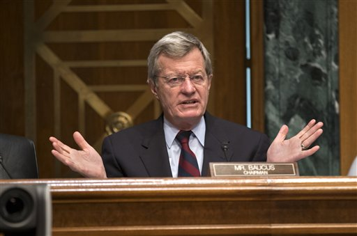 Senate Finance Committee Chairman Sen. Max Baucus, D-Mont. speaks on Capitol Hill recently. His retirement opens up an opportunity for Republicans to claim a Senate seat in a state where GOP presidential nominee Mitt Romney easily defeated Obama last year.
