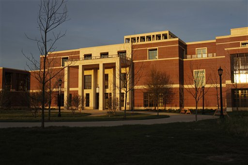 An exterior view of the George W. Bush Presidential Center. The red brick and limestone center has been in the works since Southern Methodist University was chosen as the site in 2008.