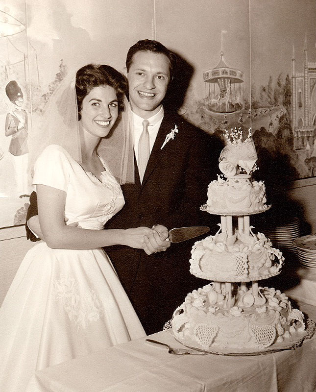 Al and Judith Glickman at their wedding.