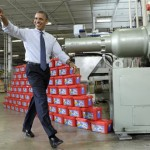 In this Nov. 30, 2012 file photo, President Barack Obama waves as he arrives before speaking at the Rodon Group, which manufactures over 95% of the parts for K-NEX Brands toys, in Hatfield, Pa. Obama made less in 2012 than in any other year since taking office, with about 40 percent of the nearly $609,000 in income that he and first lady Michelle Obama reported coming from book sales.