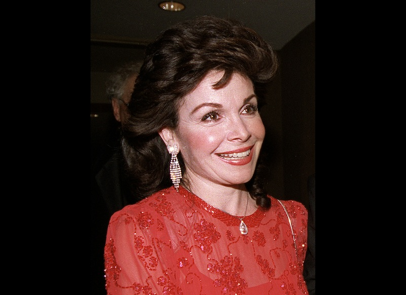 In this Oct. 20, 1990 file photo, actress and former Mickey Mouse Club member Annette Funicello arrives for the 15th annual Italian American Foundation dinner in Washington. Walt Disney Co. says, Monday, April 8, 2013, that Funicello, also known for her beach movies with Frankie Avalon, has died at age 70. (AP Photo/J. Scott Applewhite, File)