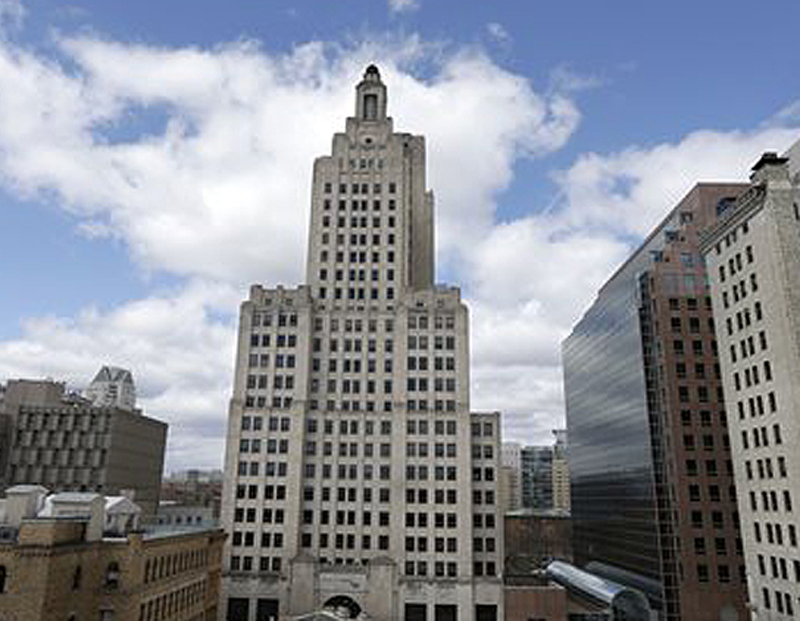 This Art Deco building in downtown Providence, R.I., is the city's most prominent skyline feature. It will be empty at the end of April, and some fear the effect on the rest of downtown.