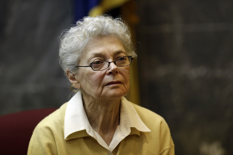 Sandra Layne testifies last month in the Oakland County Circuit Court in Pontiac, Mich. The 75-year-old woman was sentenced to 22 years in prison for shooting her teenage grandson.