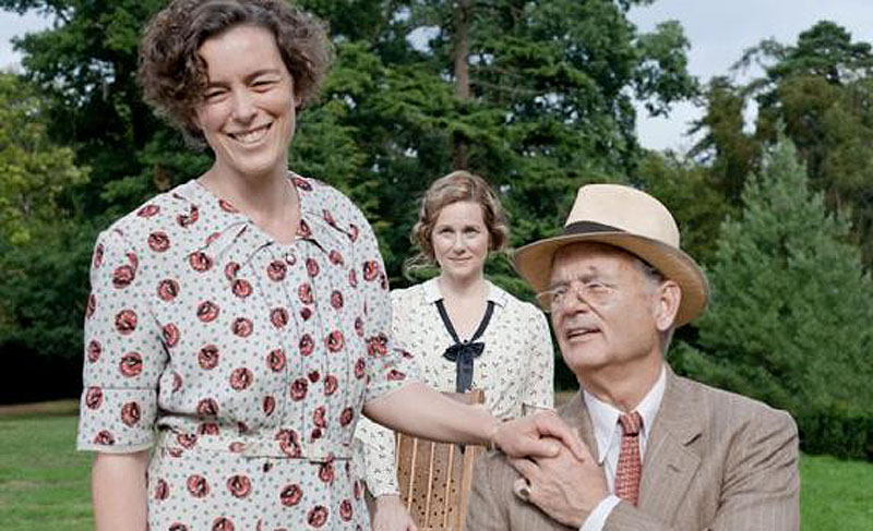 "Olivia Williams, left, Bill Murray and Laura Linney in ""Hyde Park on Hudson."