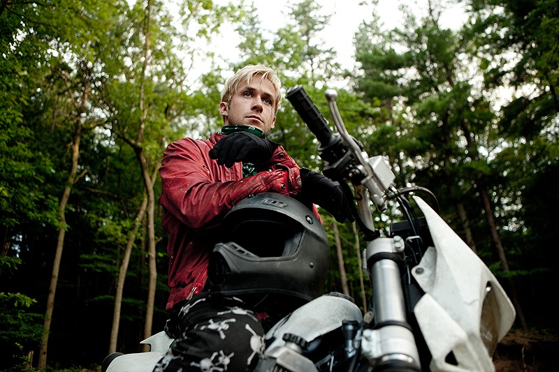 "Ryan Gosling is a motorcyle stunt rider who turns to robbing banks to support his family in ""The Place Beyond the Pines."""