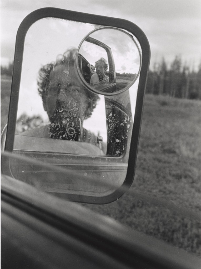 """Both (Self-Portrait While Shaving),"" circa 1999, gelatin silver prints."