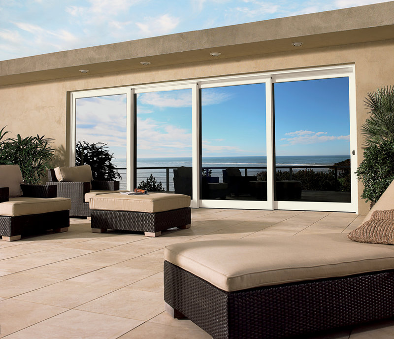 A slider on an exterior wall lets homeowners embrace the outdoors –and spaces like patios and decks.