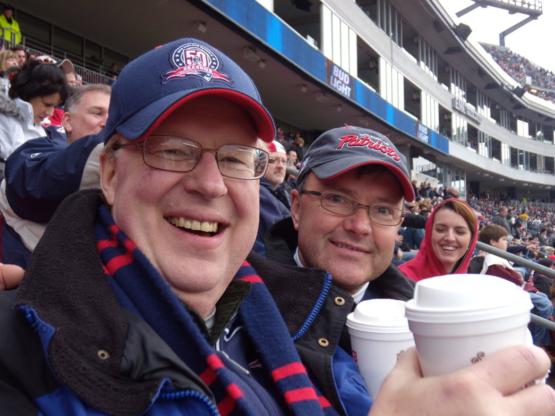 Steve Griswold, left, with Brad Leighton, was a developer who made money, but his passion was people.