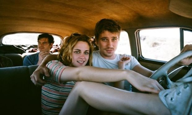"Kristen Stewart, Garrett Hedlund and Sam Riley, rear, in ""On the Road."""