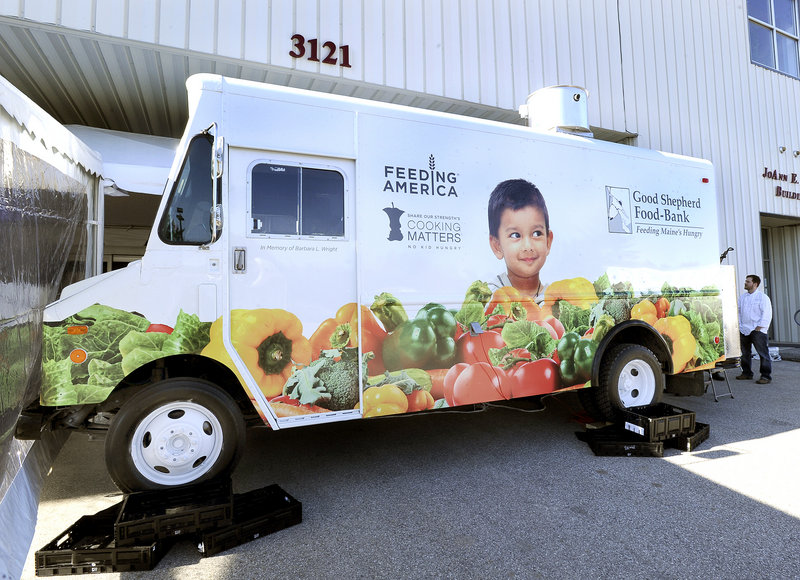 Good Shepherd president Kristen Miale said the organization will spend the next year or so testing out ideas for its new food truck, above, including traveling with its mobile food bank, which distributes fresh produce and other items to underserved areas of the state and low-income neighborhoods.