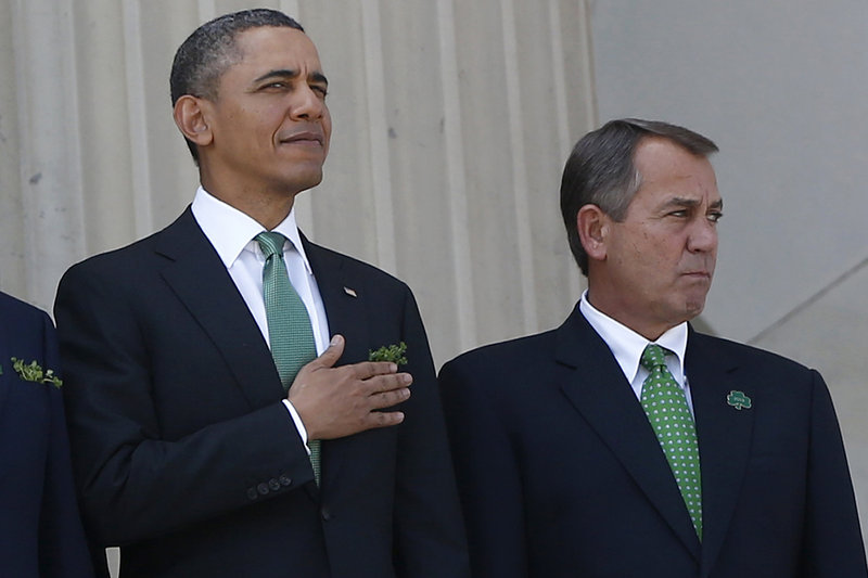President Obama presented a budget on Friday that featured cuts to spending and tax hikes. Speaker of the House John Boehner said the president should not tie savings in entitlement programs to raising taxes.