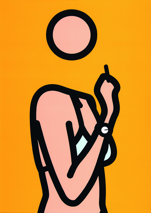 "Julian Opie's ""Ruth with Cigarette 3,"" 2005-06, Lambda print."