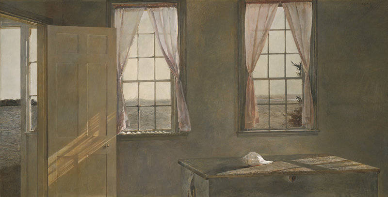 "Andrew Wyeth's ""Her Room,"" 1963, tempera."