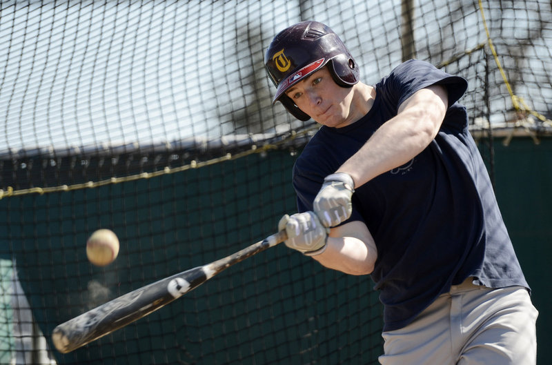Jeff Gelinas will be heading to the University of Maine because of his pitching. But his hitting also is a threat: He'll be in the middle of the order for Thornton Academy.