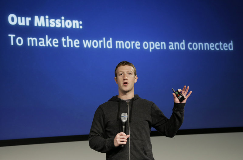 Facebook CEO Mark Zuckerberg speaks at Facebook headquarters in Menlo Park, Calif., last month. He and other Silicone Valley leaders have launched Fwd.us.