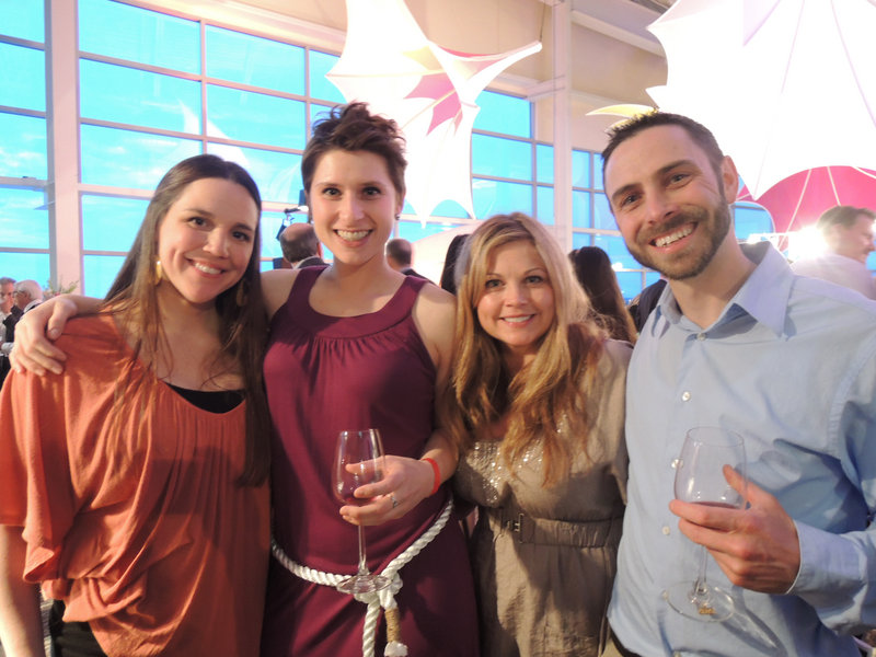 Janelle Brown, Hannah McLuskey, Laurie Kennie and Jeremy Brown, all of Portland, at the Toast on the Coast fundraiser for Easter Seals Maine at the Ocean Gateway on Thursday night.