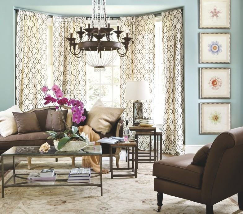 This room from the Ballard Designs catalog shows a carefully coordinated collection of items.