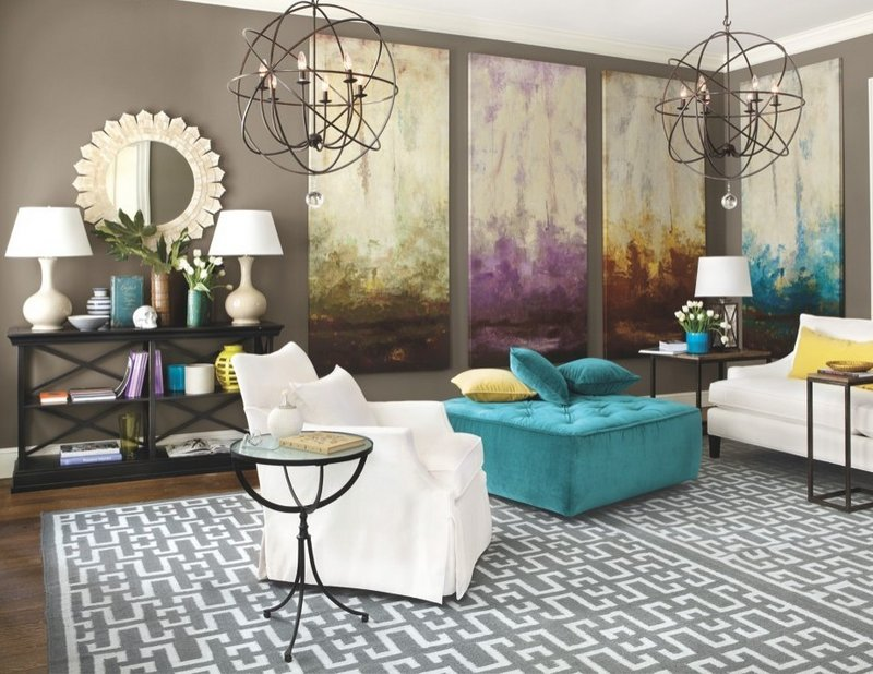 This image from the Ballard Designs catalog shows a living space boasting an eye-catching decor. With the housing recovery gaining momentum, Americans have more incentives to redecorate their homes. But there's no need to spend a lot doing it.