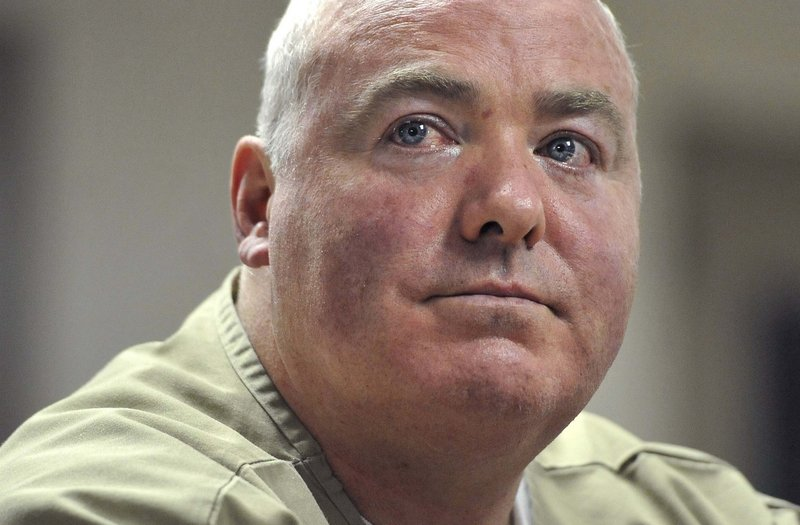 Michael Skakel listens during a parole hearing Oct. 24 at McDougall-Walker Correctional Institution in Suffield, Conn.