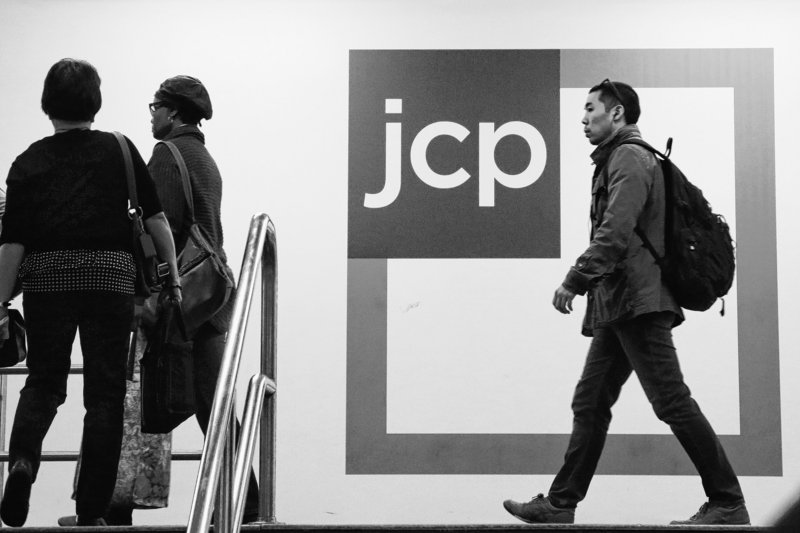 A customer arrives at a J.C. Penney store in New York. With the company faltering, there are concerns about a steady flow of merchandise.