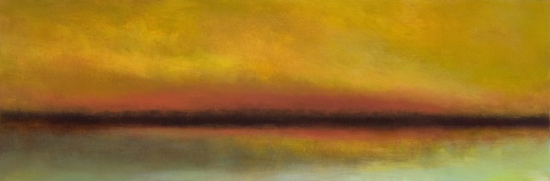 "Rachael Eastman's ""Warm Silence,"" 2012, oil on canvas over box panel."