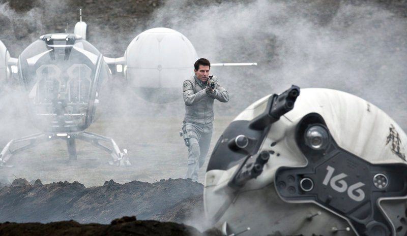 "Tom Cruise in a scene from the sci-fi thriller ""Oblivion."""