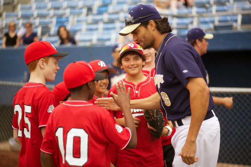 """Scott Elrod plays a big-league player who has to coach Little League while in recovery from alcoholism in """"Home Run."""""""