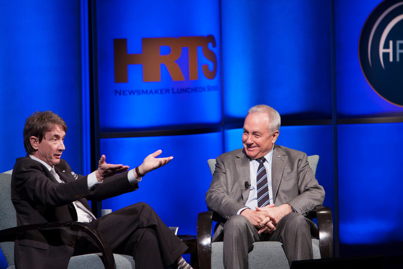Actor and comedian Martin Short, left, talks about the career of