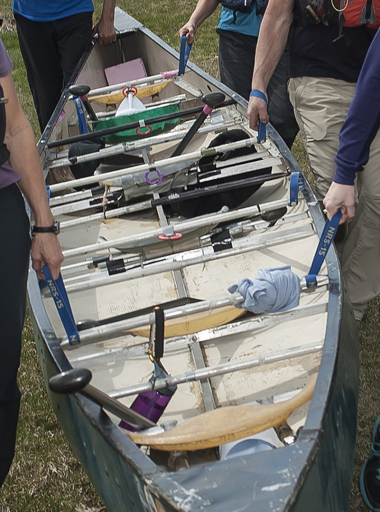 The Kenduskeag Screamah holds six and has molded seats instead of having paddlers kneel on the floor of the craft. Mainers have been racing in these big voyageurs for decades.