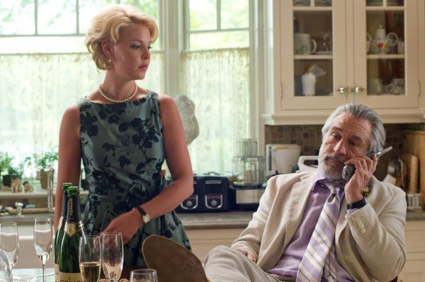 "Katherine Heigl and Robert De Niro in a scene from ""The Big Wedding."" Diane Keaton, Amanda Seyfried, Topher Grace, Susan Sarandon and Robin Williams also star in the comedy opening Friday."