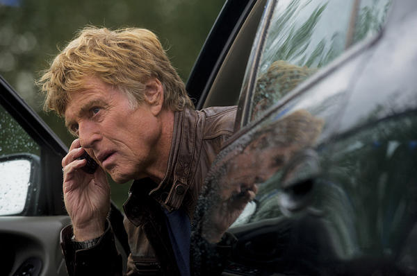 Robert Redford on the run in