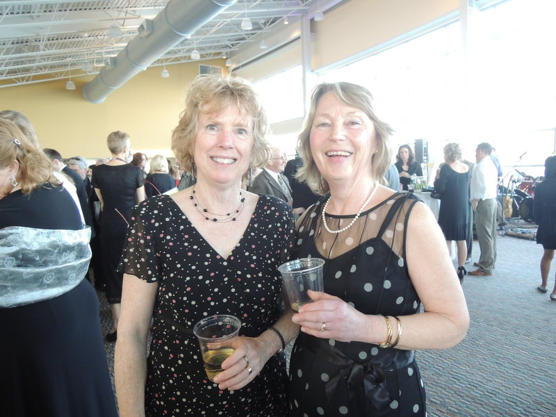Nancy Egan of Harpswell and Pam Goucher of Freeport at Goodwill's Little Black Dress fundraising event.